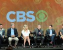 """From left, actor James Wolk, executive producer/creator David E. Kelley, actors Sarah Michelle Gellar, Robin Williams, executive producer/director Jason Winer and actor Amanda Setton participate in the """"The Crazy Ones"""" panel at the 2013 CBS Summer TCA Press Tour at the Beverly Hilton Hotel on Monday, July 29, 2013 in Beverly Hills, Calif."""