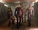"This image released by Disney - Marvel shows, from left, Zoe Saldana, the character Rocket Racoon, voiced by Bladley Cooper, Chris Pratt, the character Groot, voiced by Vin Diesel and Dave Bautista in a scene from ""Guardians Of The Galaxy."""