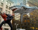 "In this image released by Syfy, Ian Ziering, as Fin Shepard, battles a shark on a New York City street in a scene from ""Sharknado 2: The Second One,"" premiering Wednesday at 9 p.m. EDT."