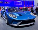 The new Ford GT supercar, on display at the North American International Auto Show, Monday, Jan. 12, 2015, in Detroit.