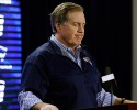 New England Patriots football head coach Bill Belichick pauses as he speaks at Gillette Stadium Saturday, Jan. 24, 2015, in Foxborough, Mass., where he defended the way his team preps its game balls.